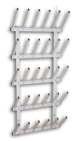 Boot dryer for 15 pairs of boots, light gray varnished