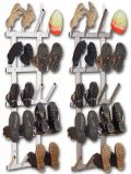 Boot dryer for 10 pair of boots, light-grey varnished and stainless steel, with boots