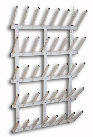 Boot dryer for 20 pair of boots, light-grey varnished