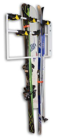 Frame with hinge for 10 pair of ski / snowboard