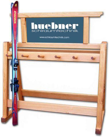 Skiständer Holz 1,2 m rustikale Ausführung