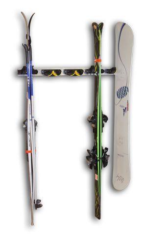 Ski- und Snowboardhalter Wandschiene